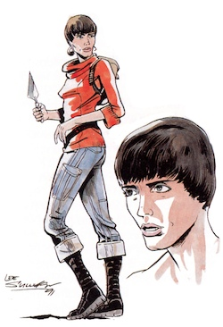 one of Lee Sullivan's early color sketches of Bernice Summerfield